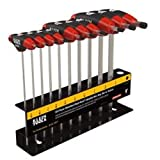 Klein Tools JTH610EB SAE Ball-End Journeyman T-Handle Set with 6-Inch Stand, 10-Piece