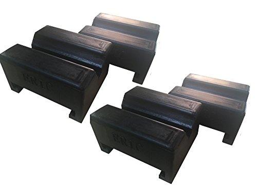 [Compatible Models Torin Big Red Aluminum Jack Stands 3 Ton] Jack Pad Adapter Rubber Jack Pads Slotted Frame For stand (4packs) general-purpose rubber adapter EK-70
