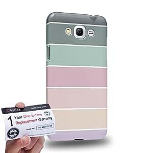 Case88 [Samsung Galaxy Grand Max] 3D impresa Carcasa/Funda dura para & Tarjeta de garantía - Art Coloured Doodle Patterns Pastel Palette