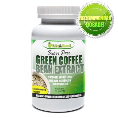Life & Super Food pur café Green Bean Extract 800 mg | Qualité pur et naturel standardisé en acide chlorogénique 45% (60 gélules)