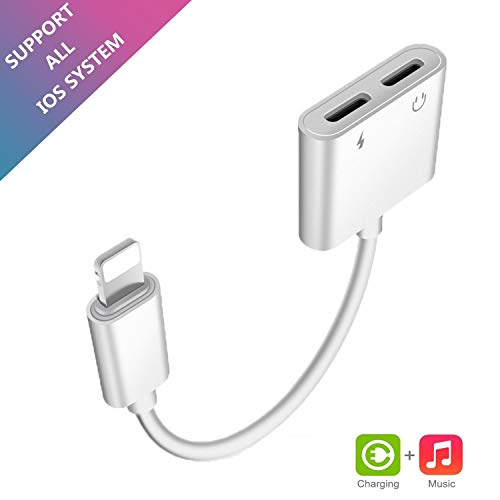 - Lampari Dual Lighting Adapter Compatible Phone X/Xs/XR/Xs Max/ 7/8 / Plus, 2 in 1 Lighting Splitter Headphone Audio and Charge Adapter.(Compatible iOS 11, iOS 12 Later)-Remote and Call Function