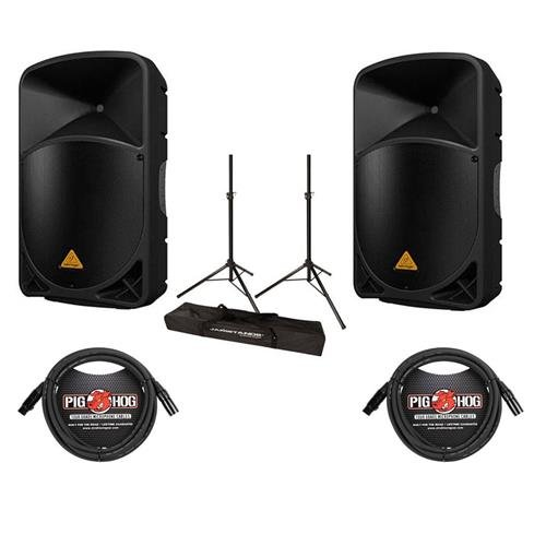 Behringer 2 Pack EUROLIVE B115D Active 1000-Watt 2-Way 15
