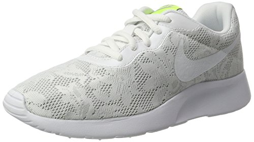 NIKE New Women's Tanjun ENG Sneaker White/Platinum (New Nike Sneakers)