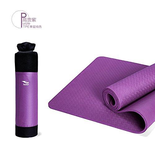 YOOMAT Environmentally Friendly TPE Yoga Mat Single-Layer Solid Farbe Anti-Slip Floor Mat 8Mm Extension 183 Fitness Mat121484
