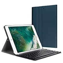 Fintie iPad 9.7 2018/2017 / iPad Air 2 / iPad Air Keyboard Case - Slim Shell Stand Cover w/Magnetically Detachable Wireless Bluetooth Keyboard for iPad 6th / 5th Gen, iPad Air 1/2, Navy