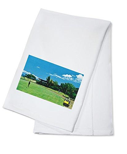 maui-hawaii-view-of-a-green-at-the-royal-kaanapali-golf-course-100-cotton-kitchen-towel