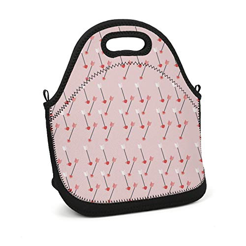 ArPKnight Valentines-love-Cupid-arrows-01- Lunch Box Unique Resuable Cooler Bag Lunch Box