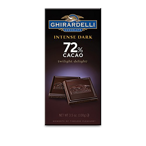 - Ghirardelli Chocolate Intense Dark Bar, Twilight Delight 72% Cacao, 3.5-Ounce