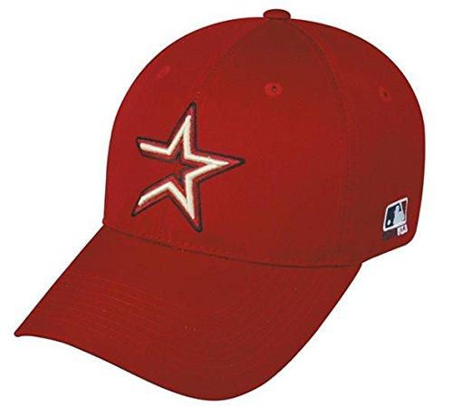 (OC Sports Houston Astros MLB Throwback Retro Hat Cap Red/Gold Star Adult Men's Adjustable)