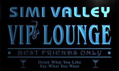 Valley Cocktail (qi2253-b Simi Valley VIP Lounge Club Cocktails Bar Neon Beer Sign)