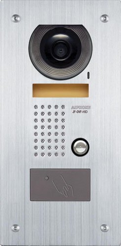 Series Door Intercom (Aiphone JF-DVF-HID Vandal-Resistant Flush-Mount Audio/Video Door Station with HID Card Reader for JF Series Intercom System, Stainless Steel Faceplate)