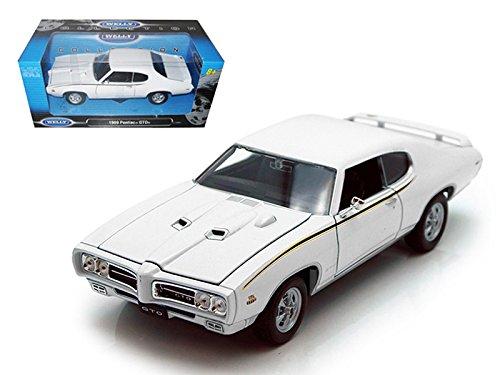 1969 Pontiac GTO Judge White 1:24 Diecast Model Car (color may vary)