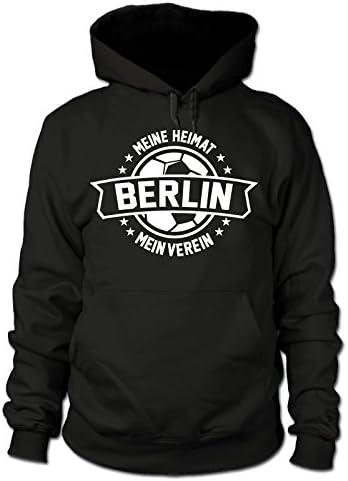 Mein Verein Meine Heimat shirtloge Gr/ö/ße S Schwarz 3XL Berlin Fan Kapuzenpullover