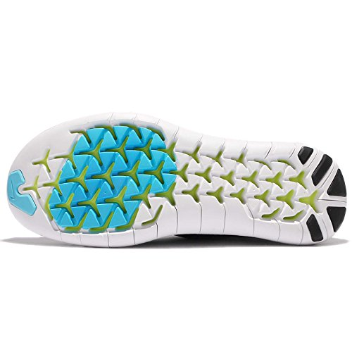 Mens Nike Free RN Motion Flyknit 2017 Running Shoe Black/Chlorine Blue-volt-white 11.5 rG2En