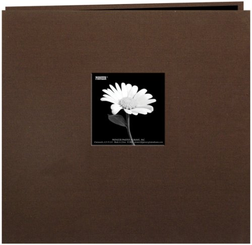 Chocolate Album 12x12 (Pioneer 12 Inch by 12 Inch Postbound Frame Cover Memory Book, Chocolate Brown)
