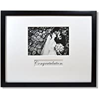 Golden State Art, 11x14 Wedding Wood Wall Frame for 5x7 Picture with Signature Mat, Black