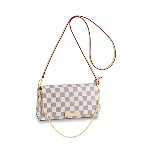 Women's Canvas Pochette Favorite MM Double-use Chain Flap Bag Small Crossbody Bag Shoulder Bag (white PM)