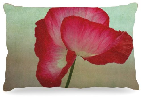 Kess InHouse Robin Dickinson ''La Te Da'' Magenta Poppies Dog Bed, 30 by 40-Inch by Kess InHouse