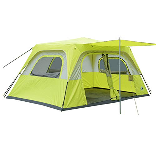Camel cup Tent Outdoor Two-Bedroom one-Bedroom Sunscreen Camping Tent Large 8 People 10 People 12 People Multi-Person Tent Household Equipment Outdoor Rainproof Windproof Tourist Tent Hiking Camping