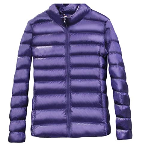 Puffer 2 Zipper Jacket Lightweight Women's Down Down Gocgt Coats Packable wqxHYCBnnp