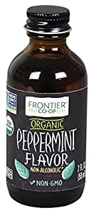 Frontier Peppermint Flavor Certified Organic, 2 Ounce Bottle