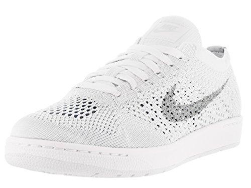 Nike Frauen Tennis Classic Ultra Flyknit Laufschuhe 833860 Turnschuhe Weiß / Wolfsgrau