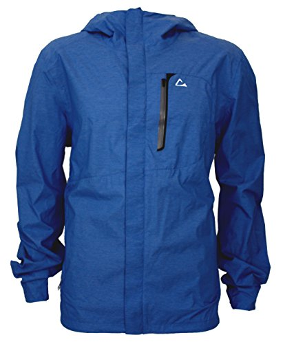 Paradox Mens Waterproof Breathable Rain Jacket Medium Cobalt Blue (Breathable Resistant Water Jacket)