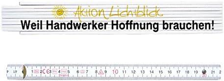 ZOLLSTOCK Spruch AKTION LICHTBLICK Lustig Geschenk Meterstab Meterma/ß Handwerker