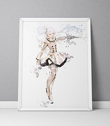 Rwby print, Rwby poster, Weiss Schnee print, Weiss Schnee poster, Anime poster, Anime print