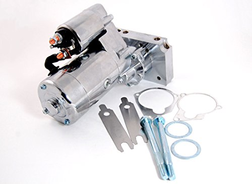 Small/Big Block Chevy Starter with Chrome Finish 3 HP 12 Volt