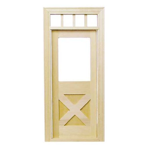 Dollhouse Miniature Crossbuck Door by Houseworks, - Crossbuck Door