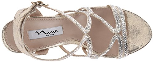 Nina Women's Varsha YF Dress Sandal Goldina Skylina shopping online high quality free shipping comfortable free shipping with mastercard outlet shop for MwwfWoc