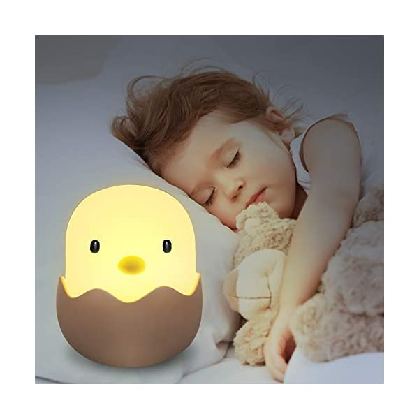 Veilleuse de Bébé, solawill Veilleuse de Nuit Coquille d'oeuf Poulet Emotion Lumière de Nuit USB Rechargeable Veilleuse Lampe Pour Chanbre d'Enfant 1