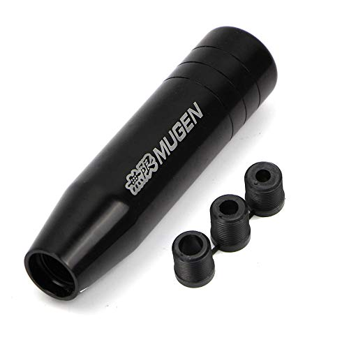 Universal Gear Shift Knob for Honda Aluminum Manual Racing Lever Stick Cover Black
