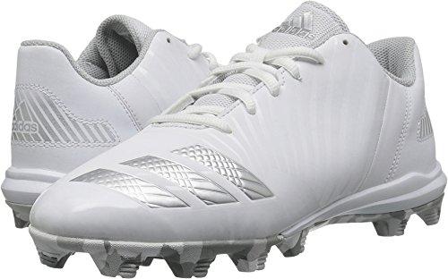 adidas Men's Freak X Carbon Mid Baseball Shoe, White, Silver met, Clear/Grey, 1.5 M US Little Kid