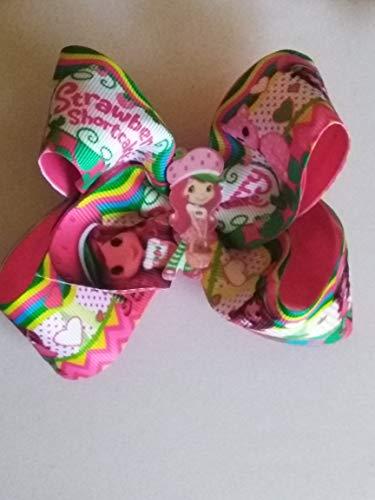 - Strawberry shortcake Birthday hair bow, Strawberry hair bow, character boutique bow, character hair bow
