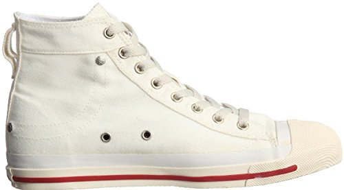 Womens Boots White Hi New Red Off Shoes Exposure Canvas Trainers DIESEL OSqxXvBp