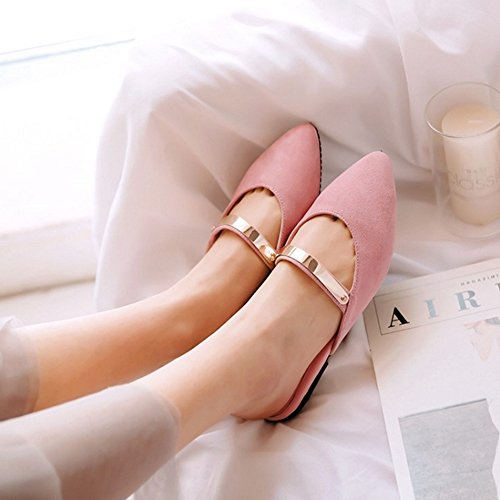 Large Size Slippers Materail Flat with SJJH with Pink Suede and Slippers Pointed Toe Available nvTnSwqH1x