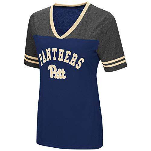 5b6bb7afe Colosseum Women's NCAA Varsity Jersey V-Neck T-Shirt-Pittsburgh  Panthers-Navy-Medium