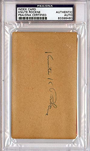 Knute Rockne Autographed 3x5 Index Card Notre Dame #83398460 PSA/DNA Certified College Cut Signatures