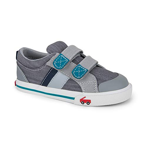 - See Kai Run Boy's Russell Sneaker, Gray/Teal, 11.5 M US Little Kid