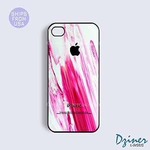 iPhone 6 Tough Case - 4.7 inch model - Purple Brush Design iPhone Cover