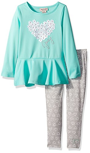 - Juicy Couture Little Girls' 2 Piece Pant Set, Green, 6