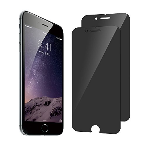SANFEEL Screen Protector for iPhone 8/7/6s/6 Tempered Glass Privacy Left and Right 2Way Anti Spy 4.7 Screen Film [2 Packs]