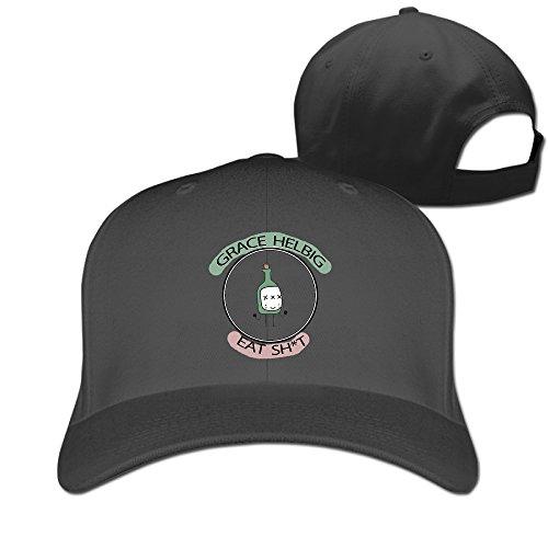 BAI XUE Grace Helbig Cute Funny Logo Baseball Cap Black