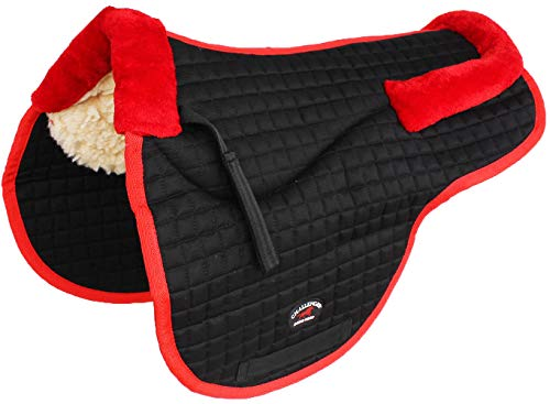 St. Charles Horse Quilted English Saddle PAD Trail Contour Fleece Lined 72105