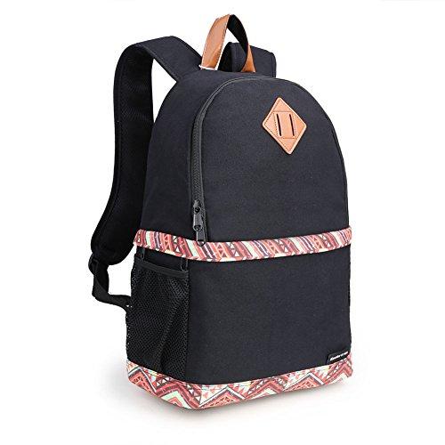 Koolertron Professional Women Canvas Camera Case/Backpack for SLR DSLR Canon Nikon Camera Shoulder Bag Canon (Black)