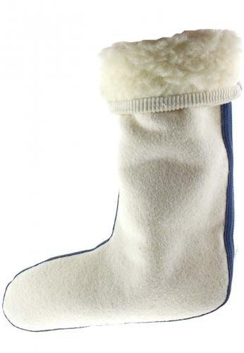 Stivali con in in per Bianco professionale coste a gomma in velluto risvolto d'agnello Bianco Inserto lana 5BUXwqxq8