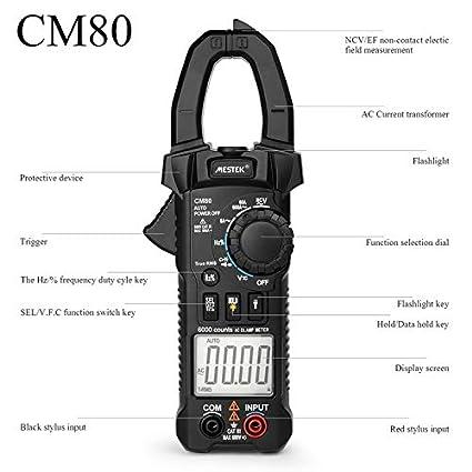 MESTEK CM81 medidor de abrazadera digital, multímetro de ...