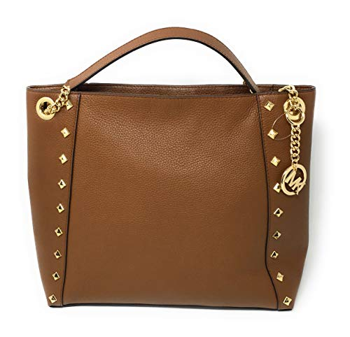 (Michael Kors Kathy Stud Large Chain Shoulder Bag Luggage)
